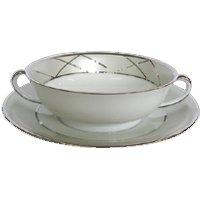 Haviland Clair de Lune Uni Soup Cup & Saucer - Uni Gifts