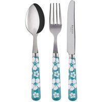 Sabre Hawaiian Flowers Turquoise Children's Set - Hawaiian Gifts