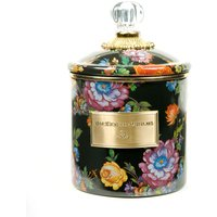 Mackenzie-Childs Flower Market Black Small Canister | 89224-70 - Small Gifts