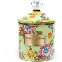 Mackenzie Childs Flower Market Green Small Canister | 89224-90 - Small Gifts