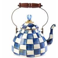 Mackenzie Childs Royal Check Tea Kettle, 3 Quart