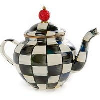Mackenzie-Childs Courtly Check Enamel 4 Cup Teapot - Teapot Gifts