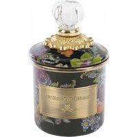 Mackenzie-Childs Flower Market Mini Canister, Black