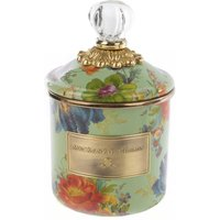 Mackenzie-Childs Flower Market Demi Canister, Green