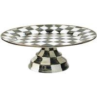 Mackenzie-Childs Courtly Check Enamel Pedestal Platter, Large