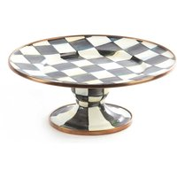 Mackenzie-Childs Courtly Check Mini Enamel Pedestal Platter