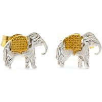Alex Monroe Little Elephant Stud Earrings, Gold Plated & Sterling Silver - Elephant Gifts