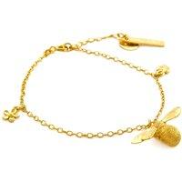 Alex Monroe Baby Bee Charm Bracelet, Gold Plated