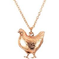 Alex Monroe Fat Hen Rose Gold Necklace   Bbn10/rgp