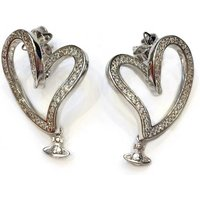 Vivienne Westwood Sosanna Small Silver Earrings, Rhodium Plated - David Shuttle Gifts