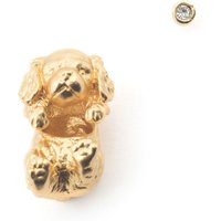 Bill Skinner Puppy Gold Spaniel Through Earring & Crystal Stud | BS-ER0590-G-KING - Puppy Gifts