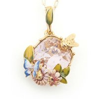 Bill Skinner Scenes of Nature Vintage Rose Pendant | BS-NW0220-G - Nature Gifts