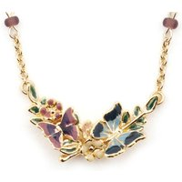 Bill Skinner Butterfly Floral Gold Pendant   Bs-nw0403-g
