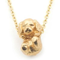 Bill Skinner Puppy Gold Spaniel Pendant | BS-NW0574-G-KING - Puppy Gifts