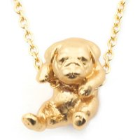 Bill Skinner Puppy Gold Pug Pendant | BS-NW0574-G-PUG - Puppy Gifts