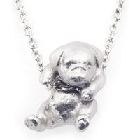 Bill Skinner Puppy Silver Pug Pendant | BS-NW0574-R-PUG - Puppy Gifts