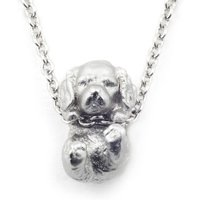 Bill Skinner Puppy Silver Spaniel Pendant | BS-NW0574-R-KING - Puppy Gifts