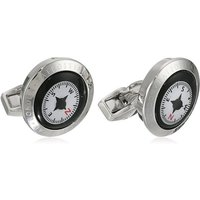 Tateossian Compass White & Black Cufflinks | BTS8029