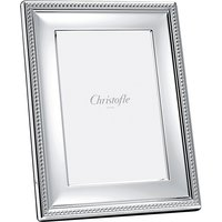 Christofle Perles Silver Plate Picture Frame, 13cm x 18cm | 04256003 - Picture Gifts