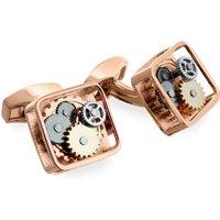 Tateossian Square Gear Rose Gold Cufflinks | CL0679 - Cufflinks Gifts