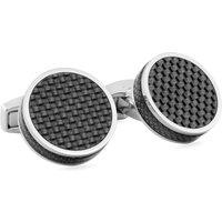 Tateossian Tablet Black Carbon Fibre Cufflinks | CL5376 - Cufflinks Gifts
