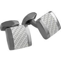 Tateossian Carbon Freeway Grey Cufflinks | CL7183 - Cufflinks Gifts