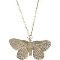 Alex Monroe Duke Of Burgundy Butterfly Silver Necklace   Etn3-s