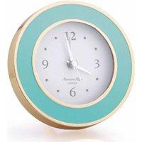 Addison Ross Pastel Blue & Gold Alarm Clock - Alarm Clock Gifts