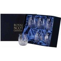 Royal Scot Crystal London Six Barrel Tumblers, 85mm