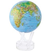 MOVA Blue with Relief Map Gloss Finish 4.5 Inch Globe - Ocean Gifts