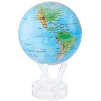 MOVA Blue with Relief Map 4.5 Inch Globe - Ocean Gifts