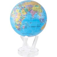 MOVA Blue with Political Map 6 Globe - Politics Gifts