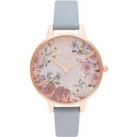 Olivia Burton British Blooms Chalk Blue and Rose Gold Watch