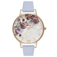 Olivia Burton Marble Floral Chalk Blue & Rose Gold Watch | OB16MF10 - David Shuttle Gifts