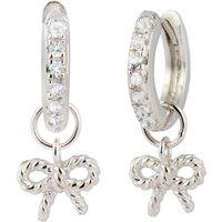 Olivia Burton Vintage Bow Huggie Silver Earrings - Vintage Gifts