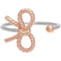 Olivia Burton Vintage Bow Silver & Rose Gold Ring | OBJ16VBR05 - Vintage Gifts