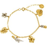 Alex Monroe Paradise Charm Bracelet, Gold Plated & Sterling Silver - Charm Bracelet Gifts