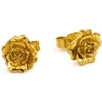 Alex Monroe Rosa Damasca Stud Gold Earrings   Rde2/gp