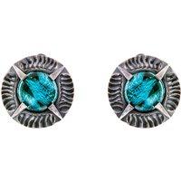 Simon Harrison Angevin Aquamarine Round Stone Earring   SHJ081-18-30 - Aquamarine Gifts