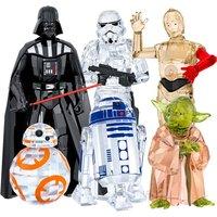 Swarovski Star Wars Darth Vader, Stormtrooper, C-3PO, Master Yoda, R2-D2 & BB-8 Set - Decorations Gifts