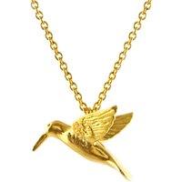 Alex Monroe Hummingbird Gold Necklace   Sun5/gp