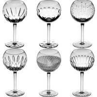 Cumbria Crystal SIX Large Mixed Wine Set