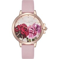 Ted Baker Ladies' Ruth Floral Leather StrapWatch | TE50267011 - Floral Gifts