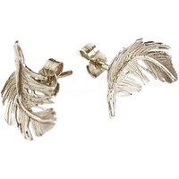 Alex Monroe Little Feather Stud Silver Earrings   Tfe5/s