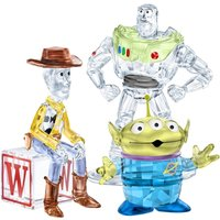 Swarovski Toy Story Woody, Buzz Lightyear & Pizza Planet Alien Set - Decorations Gifts