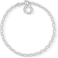 Thomas Sabo Charm Club Silver 0.3cm Charm Bracelet, Large | X0163-001-12-L - Thomas Gifts
