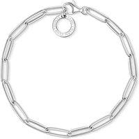 Thomas Sabo Charm Club Paper Clip Style Charm Bracelet, 18.5cm | X0253-001-21-L18,5 - Charm Bracelet Gifts