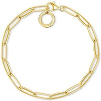 Thomas Sabo Charm Club Gold Paper Clip Style Charm Bracelet, 18.5cm | X0253-413-39-L18,5 - Charm Bracelet Gifts