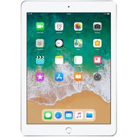 "Apple iPad (2018) 9.7"" Wi-Fi + 4G 128GB Silver UNLOCKED"
