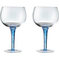 Imperial Blue Set Of 2 Gin Glasses